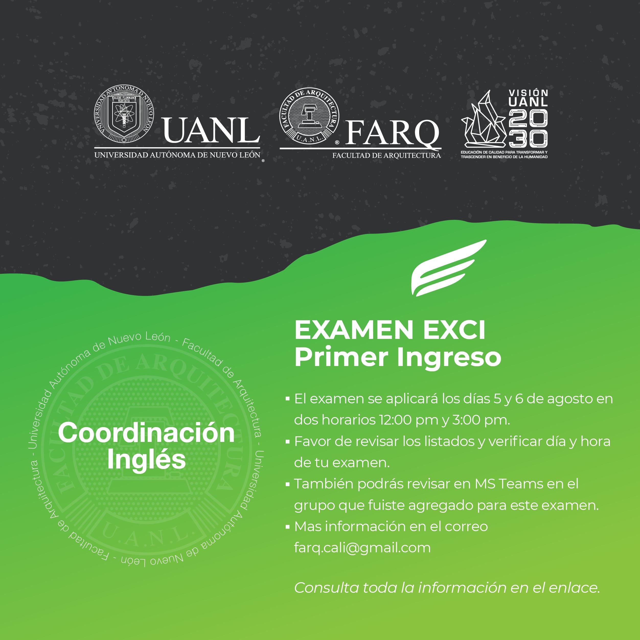 Examen EXCI – Primero ingreso